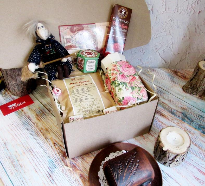 """Подарок женщине - набор - комплимент """"Чай и Роза"""""""