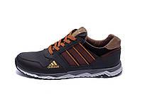 Мужские кожаные кроссовки Adidas Tech Flex Brown (реплика)