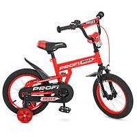 """Стильный детский велосипед PROF1 14"""" L14112 Driver красный рама высокопрочная сталь"""