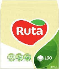 "Серветки""Ruta"" 24*24 1шар 100шт.жовта"