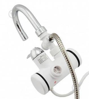 Кран - бойлер (Проточный водонагреватель Delimano  с экраном / кран мгновенного нагрева воды / подкл. сзади)