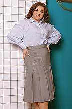 """Офисная женская миди-юбка """"Trenton"""" со складками и карманами (большие размеры), фото 2"""