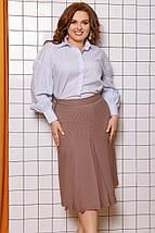 """Офисная женская миди-юбка """"Trenton"""" со складками и карманами (большие размеры), фото 3"""
