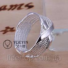 Кольцо  Крестик 16, 17 размер Стерлинговое Серебро 925 проба (Покрытие)