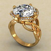 Оригинальные женские кольца.