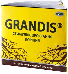 Укоренитель (Корневин) GRANDIS, 50 г  для саженцев, семян и рассады