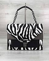Стильная сумка Amber зебра, фото 1