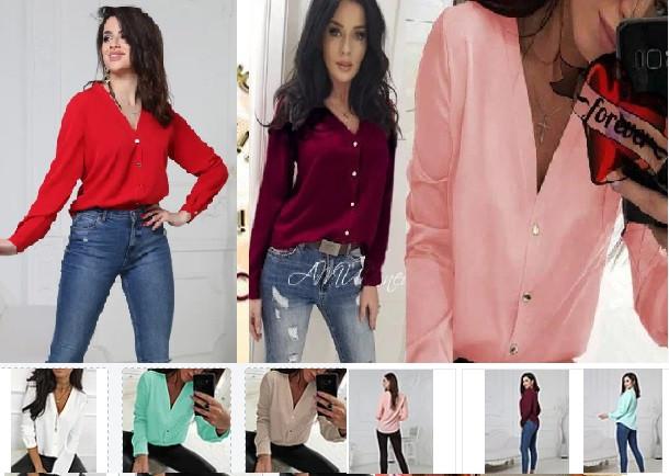 Блузка рубашка  женская стильная  42-48