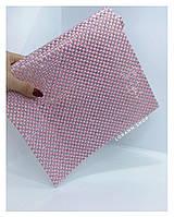 Фотофон коврик для фотографий маникюра (розовый клеточка)