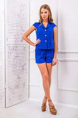 Костюм с шортами цвет синий (электрик) САНТА