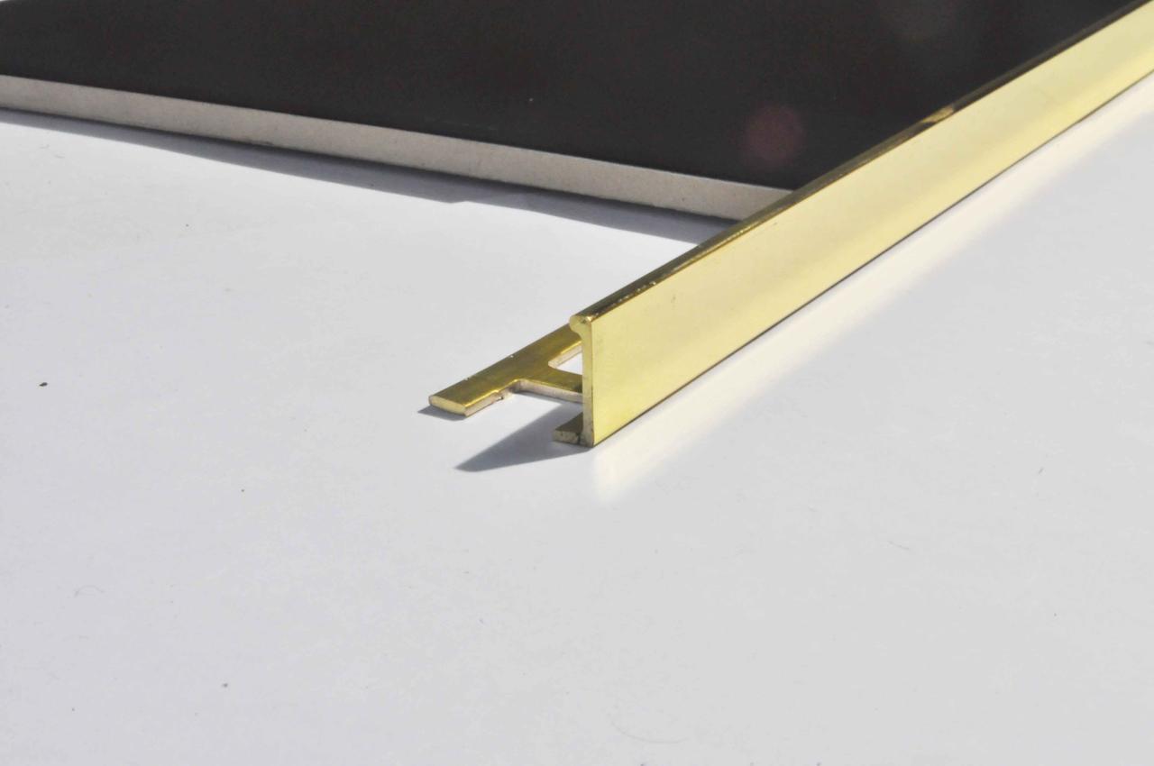 Г образный латунный уголок для плитки Pawotex 10 мм 2.5 м MOP10