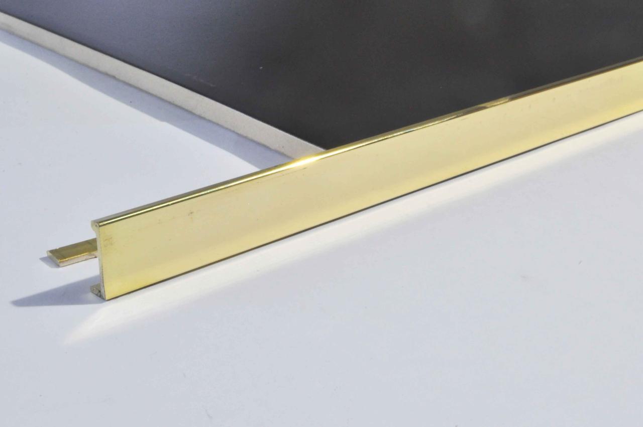 Г образный латунный наружный уголок для плитки Pawotex 12.5 мм 2.5 м MOP12.5