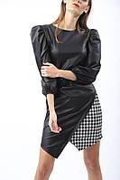 Платье женское стильное эко-кожа размер44-48,черного цвета