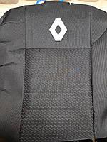 Чехлы на Рено Логан 2013- (цельный) / авто чехлы Renault Logan 2013- (эконом)