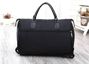 Дорожная сумка на колесах с ручкой черная (1119931257), фото 2