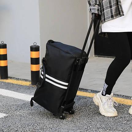 Дорожная сумка на колесах с ручкой черная BR-S (1119931257), фото 2