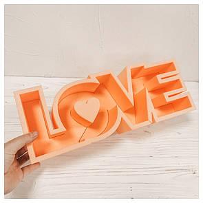 Пенобокс для цветов - Love 38*14*10 см