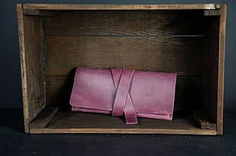 Клатч с закруткой  Винтажная кожа цвет Бордо