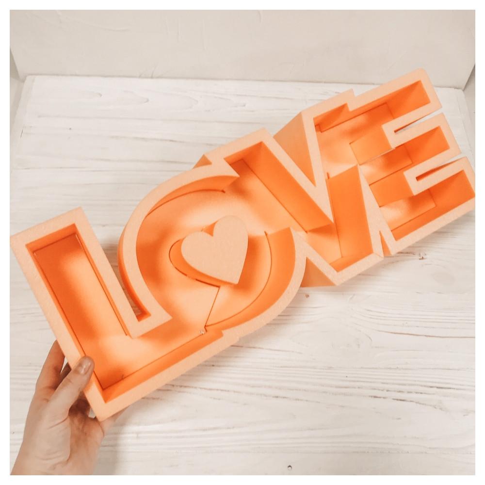 Пенобокс для квітів - Love 50*18,5*10 см