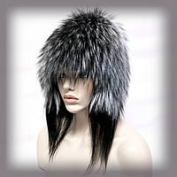 Меховая шапка из чернобурки  (с ушками)