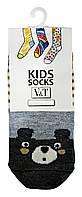 Носки для малышей Kids Socks V&T classic ШДКг 024-0486 Медвежонок р.10-12 Светло-молочный/серый меланж