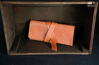 Клатч с закруткой  Винтажная кожа цвет Коньяк