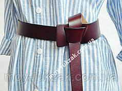 Ремень завязка женский кожаный, бордовый  ширина 45 мм*20 мм. 930478