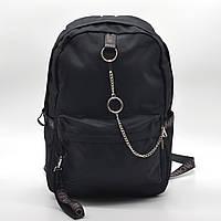 Городской рюкзак Winner черный с цепочкой