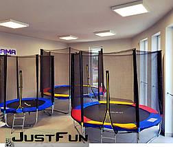 Батут Just Fun 312 см с сеткой и лестницей синий, фото 2