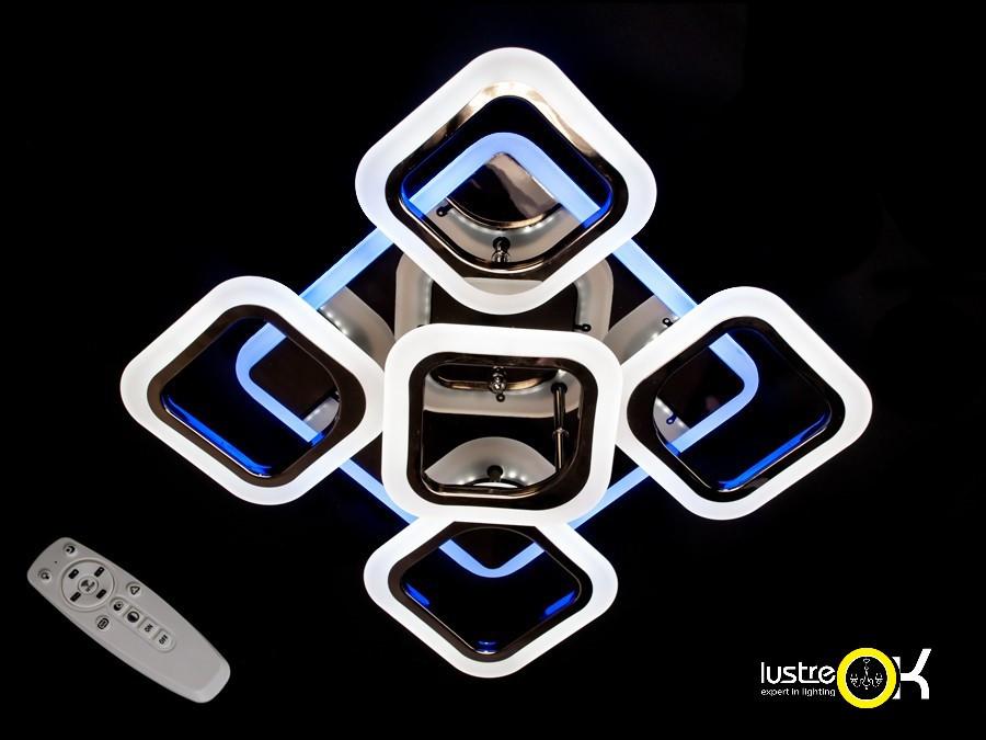 Люстра светодиодная потолочная Люстра с пультом управления  AS8060/4+1BHR LED 3color dimmer