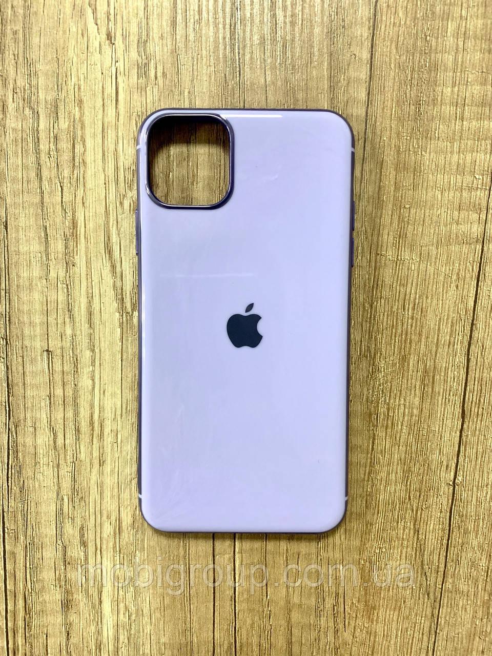 Чехол для iPhone 11 Pro силиконовый глянец с логотипом, Сиреневый