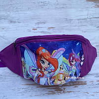Детская поясная сумка бананка для девочки Феи, фото 1