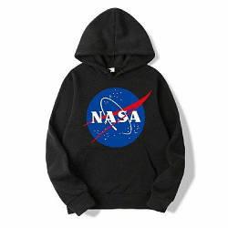 Толстовка чёрная NASA Logo   худи насса   кенгуру наса