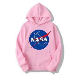 Толстовка розовая NASA Logo   худи насса   кенгуру наса