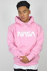 Толстовка розовая NASA   худи насса   кенгуру наса