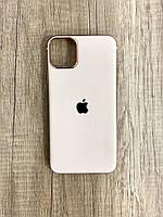 Чехол для iPhone 11 силиконовый глянец с логотипом, Персиковый, фото 1
