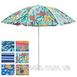 Зонт пляжный 1.8 м с наклоном серебро