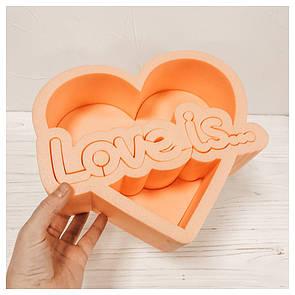 Пенобокс для цветов - Love is 25*22*10 см