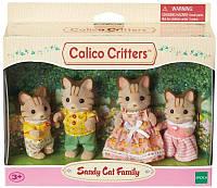 Набор фигурок Семья Полосатых Котов Sylvanian families Calico critters