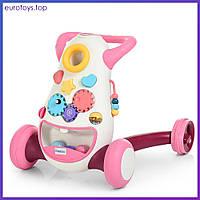 Ходунки-толкатель FD-6820-5 с игровым центром розовый Дитячі ходулі з ручкою та ігровим центром Бемби Bambi