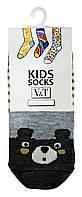 Носки для малышей Kids Socks V&T classic ШДКг 024-0486 Медвежонок р.8-10 Светло-молочный/серый меланж