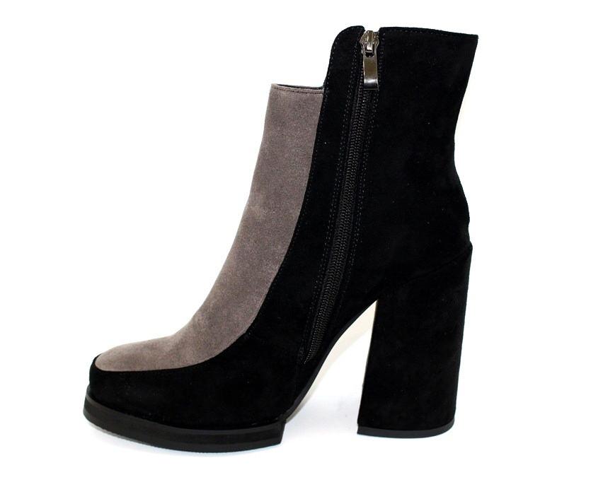 Женские ботинки на каблуке, модная новинка из эко замши