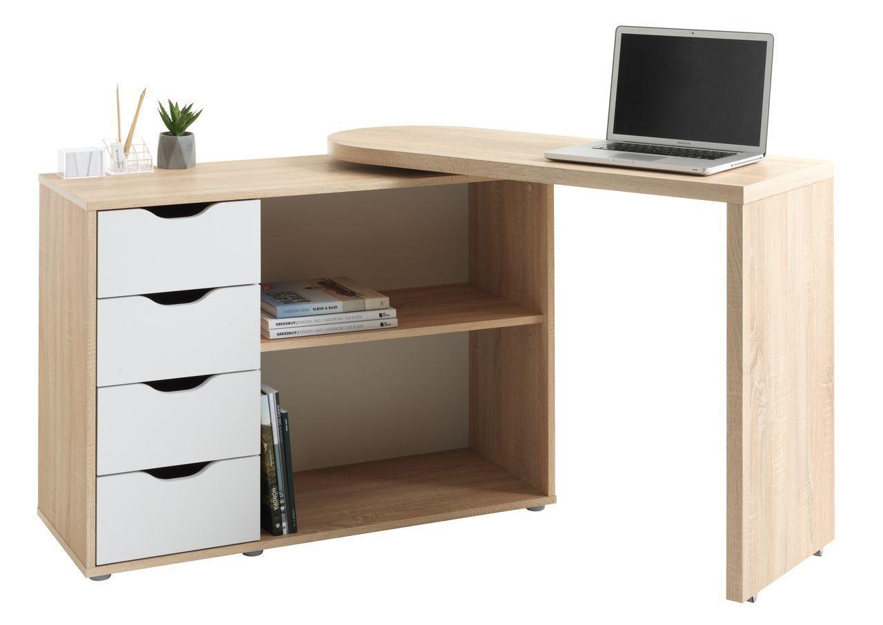 Стол письменный трасформер с движущийся частью и выдвижными ящиками