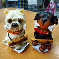 Керамічний сувенір Собака з кісточкою