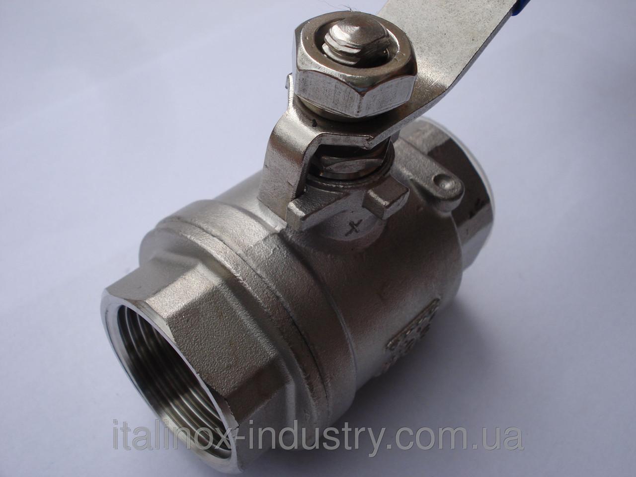 Нержавеющий кран AISI 304 (08Х18Н10)  2- корп. M/M DN 32