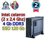 Системный блок / ПК  ( intel Celeron J1800 2 x 2.4GHz  \ 4Gb DDR3 \ SSD 120 Gb \ 400W)