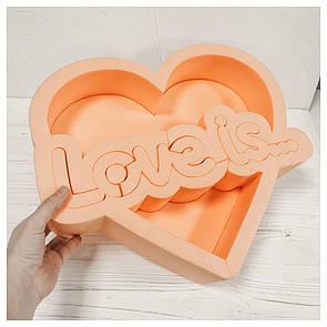 Пенобокс для цветов - Love is 39,5*34*10 см