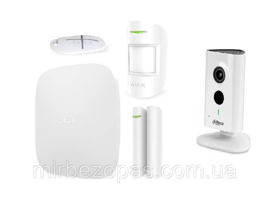 Комплект сигнализации Ajax StarterKit white + IP-видеокамера IPC-C15P