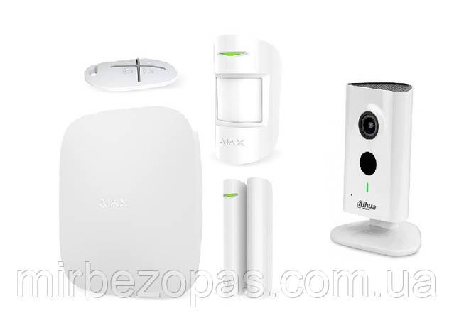 Комплект сигнализации Ajax StarterKit white + IP-видеокамера IPC-C15P, фото 2