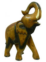 Слон манговый, хобот вверх и закручен 58 см.(см-31)